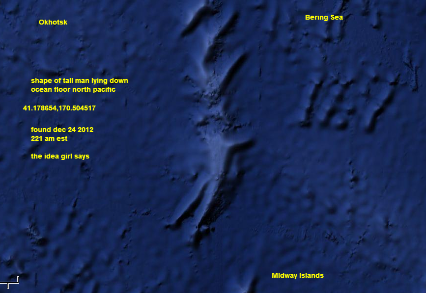 41 178654 170 504517 Google Maps Tall Alien Man North Pacific Ocean Dec 24 2012 The Idea Girl
