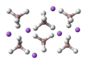 Lithium aluminium hydride atoms diagram
