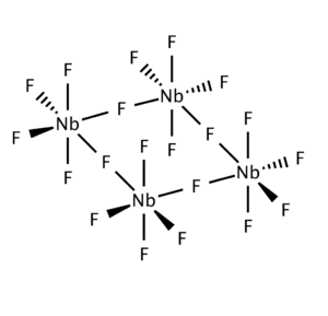 Niobium(V) fluoride, also known as niobium pentafluoride