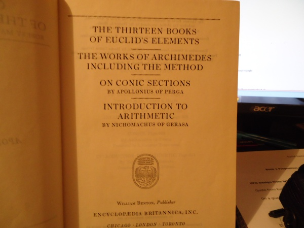 the thirteen books of euclid's elements the works of archimedes including the method on conic sections intro to arithmetic