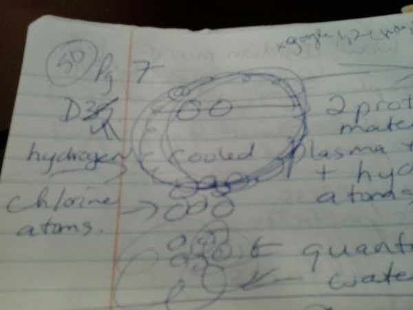 Diagram 41 WOW! SETI SIGNAL Hydrogen Chlorine Atoms protons plasma ballistic transport UFO engine