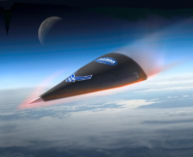 Hypersonic Technology Vehicle HTV-2 reentry (artist's impression)